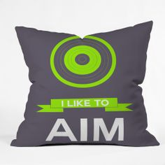 Naxart I Like To Aim 3 Throw Pillow – #denydesigns #giftguide #under50 #unique #holiday
