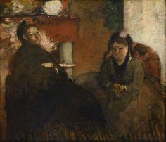 Edgar Degas, Ritratto della signora Lisle e della signora Loubens, 1866/1870 Chicago, The Art Institute of Chicago