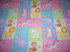 precious moments panels | Baby Precious Moments 2009 Noahs Ark Animals Coordinating Baby Quilt ...