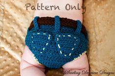 PDF Instant Download Denim Diaper Cover Crochet door DarlingDerriere