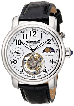 Ingersoll Men's IN5306WH Lahota Tourbillon Analog Display Mechanical Hand Wind Black Watch
