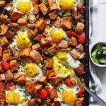sweet potato hash with eggs
