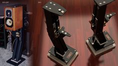 Mono and Stereo High-End Audio Magazine: JTL Audio ultimate speaker stand Hifi Stand, Audio Stand, Speaker Stands, Desktop Speakers, Big Speakers, Bookshelf Speakers, High End Hifi, High End Audio, Homemade Speakers