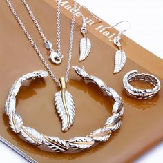 Tiffany Co Feather Sets Jewelry
