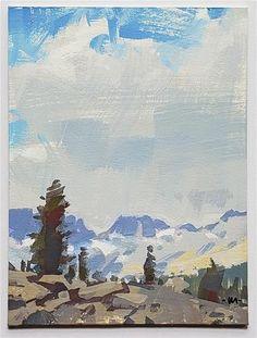 Carol Marine Gallery of Original Fine Art Illustration Board Sizes, Fine Art Gallery, Gouache, My Photos, Clouds, Landscape, Artwork, Artist, Painting