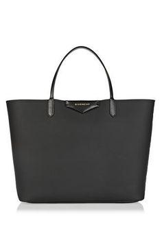 Antigona shopping bag in black coated canvas #bag #covetme #givenchy