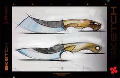 knives Knife Patterns, Neck Knife, Custom Knives, Knives And Swords, Blade Runner, Knife Making, Blacksmithing, Line Drawing, Metal Art