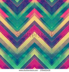 Vivid zig zag ornament. Watercolor zig zag  pattern seamless.