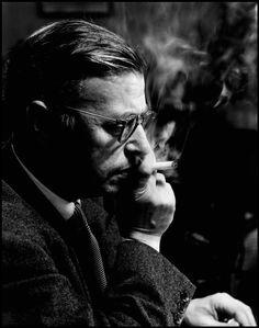 Jean-Paul Sartre, 1951 // by Philippe Halsman