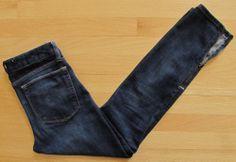 Gap Always Skinny Jeans 26 2 Zipper Ankle Denim Dark Vintage 1969 Stretch Slim