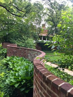 Serpentine walls in the Gardens of UVA - so beautiful.  I walked in the UVA gardens so many times as a student there.