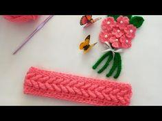 بندانه 3D كروشيه crochet headband - YouTube