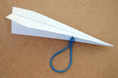 Here's a new paper airplane to try - catapult plane from Minieco from The Usborne Big Book of Science Things to Make and Do.