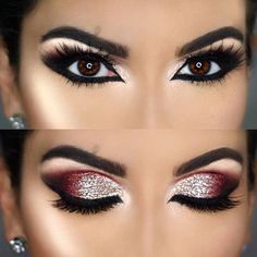 Makeup Eye Looks, Eye Makeup Steps, Cute Makeup, Smokey Eye Makeup, Glam Makeup, Pretty Makeup, Skin Makeup, Eyeshadow Makeup, Makeup Tips