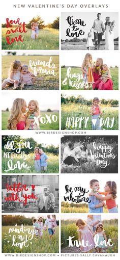 Photographer Marketing Templates  : New Valentine's Day Overlays – Birdesign