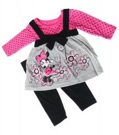 Minnie Mouse Infant Girls Dress Legging Set