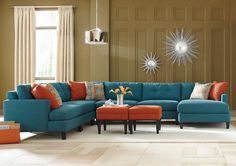 Jennifer Convertibles: Sofas, Sofa Beds, Bedrooms, Dining Rooms & More! Mia 4 piece sectional by Jonathan Louis