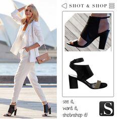 Cut out black #heels #ShotnShop #fashion #app