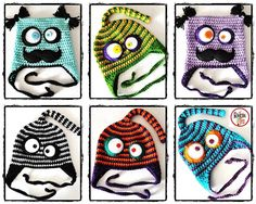 Crochet Hat You Make Me Laugh AV by elrincondeteo on Etsy