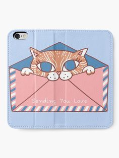 """You've Got Meowl"" iPhone Wallet by grumblebeeart 