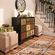 Accent Your Entryway | Welcome your holiday guests with a beautiful entryway. (Check ottomans)