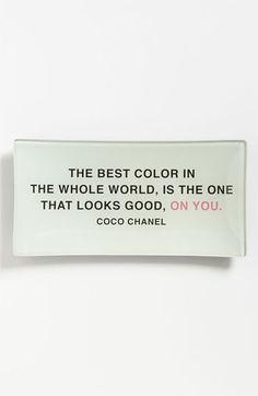 Ben's Garden 'The Best Color' Trinket Tray | Nordstrom #coco #chanel #color