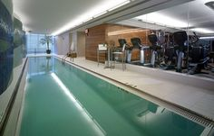 ideas fitness design gym indoor pools for 2019 Indoor Pools, Indoor Gym, Lap Pools, Home Spa, At Home Gym, Home Gym Design, House Design, Langer Pool, Block House