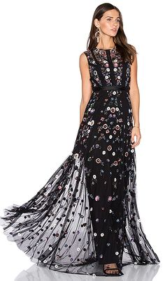 Floral Ombre Gown