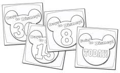 A Disney Countdown Calendar You Can Color