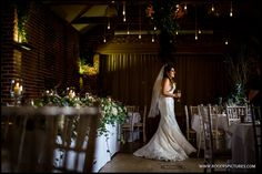 A quiet moment checking the room before the guests are seated, Wedding at Wasing Park -