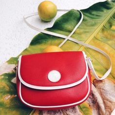 Vintage Francois Marot Red Crossbody  say oui  to this cute red and white crossbody. Detachable straps converts to clutch. Vintage and looks like new. Francois marot Bags Crossbody Bags