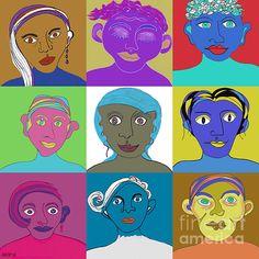 Figurative Art, Art For Sale, Fine Art America, Original Art, Faces, Street, Digital, Face, Walkway