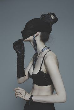 Tube earring, Clarity body piece, Pride necklace, photography by Nhu Xuan Hua