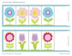 Flower Pattern Activities by Jennifer Hier - Early Learning Ideas Small Group Activities, Pre K Activities, Card Patterns, Flower Patterns, Abc Tracing, Preschool Education, Thematic Units, Early Learning, Learning Centers