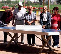 Vandal-sikkert bordtennisbord for skoler og parker