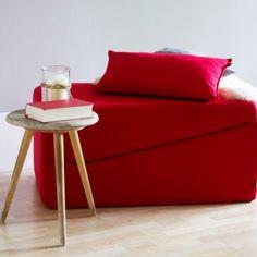 H.O.C.K. Klappliege Classic Uni rot   design3000.de