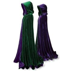Emerald and Purple Velvet Cape - Women's Clothing & Symbolic Jewelry – Sexy, Fantasy, Romantic Fashions - Pyramid Collection Pyramid Collection, Unique Clothes For Women, Medieval Dress, Halloween Cosplay, Halloween Party, Purple Halloween, Halloween 2016, Halloween Ideas, Halloween Costumes