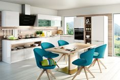 Dizajnové kuchyne - dotkuchyne.sk Lotus Kitchen, European Kitchens, Dining Chairs, Dining Room, White Lotus, Trends, Corner Desk, Sweet Home, Home And Garden