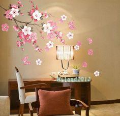 Flower butterfly Removable Wall  Vinyl Decal Art DIY Home Wall Fridge Sticker