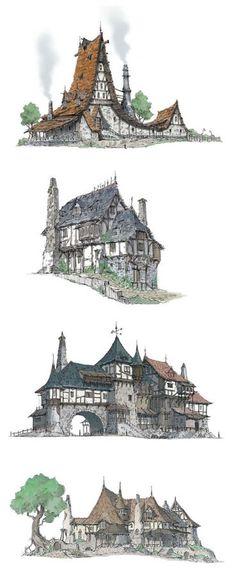 The Middle Ages - Houses A by HeNN