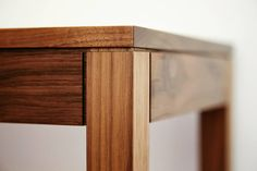 Hall table detail in American Walnut. 3mm shadow lines to express the joins. @picturesworthathousandwords #homestyle #home #modern #furnituredesign #finefurniture #bespoke #woodwork #walnut #design #interiorsydney #interiordesign #sydneydesigner #designermaker #custom #customdesign #custommade #handmade #handcrafted #oneoff #craftsman