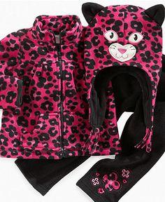 Nannette Baby Set, Baby Girls 3-Piece Fleece Cat Set - - Macy's