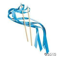 Light Blue Ribbon Wands