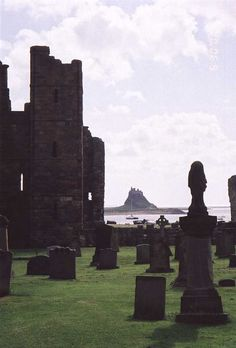 Lindinsfarne Cemetery, England - the Abby was destroyed by Vikings in 793