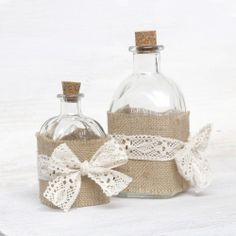 How to decorate the bottle in shabby chic DIY