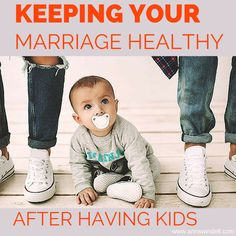 Keeping your marriage healthy after having kids is so important! Written by a Christian wife and mom.