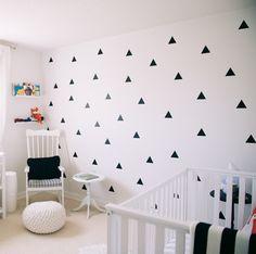 Muursticker driehoek / triangels patroon voor in de kinderkamer. Vanaf €9,95