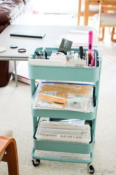 Scrapbooker alert! Don't have a dedicated room for scrapbooking or want to be with your family while working? Check out this post for some great alternatives. Via List Girl