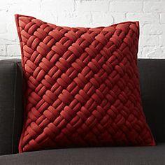 "20"" jersey interknit wine pillow"