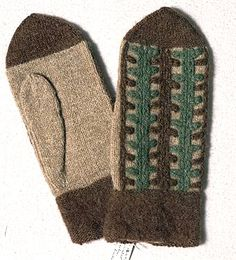 Chain stitch embroidered Bohus Stickning mitten designed by Vera Bjurström Knit Mittens, Knitted Gloves, Knitting Socks, Swedish Embroidery, Vintage Embroidery, What Is Fashion, How To Purl Knit, Vintage Knitting, Chain Stitch